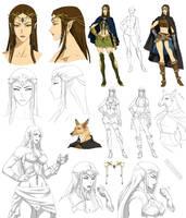 Elf villain design, Nadia (commision) by Precia-T