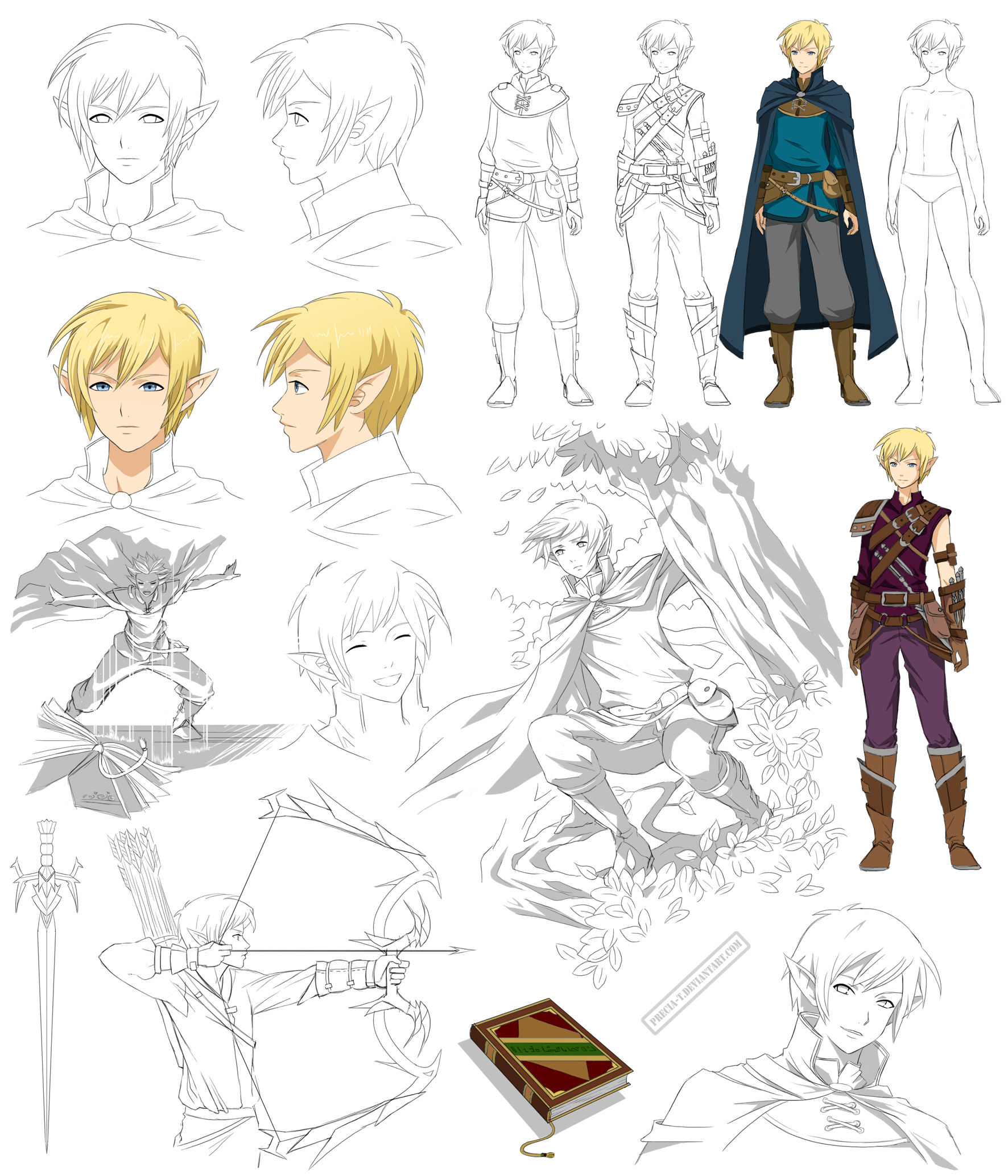 Elf boy design, Icarus (Commision) by Precia-T
