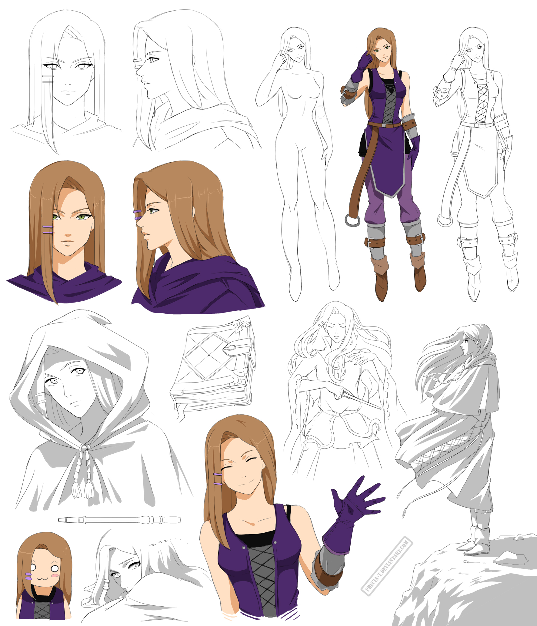 Manga Character Design Ideas : Mage teen girl design ariana commision by precia t on