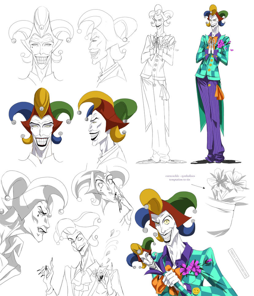 insane villain design, Jester (commision) by Precia-T