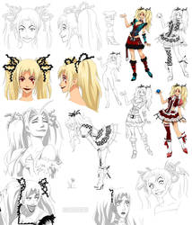 Psychotic disney style girl, Jinx (commision) by Precia-T