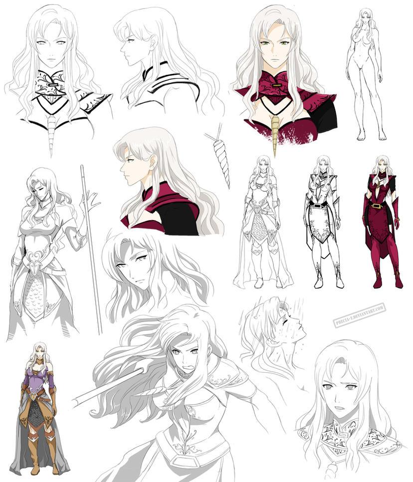 Fantasy woman design, Cassiea (commision) by Precia-T