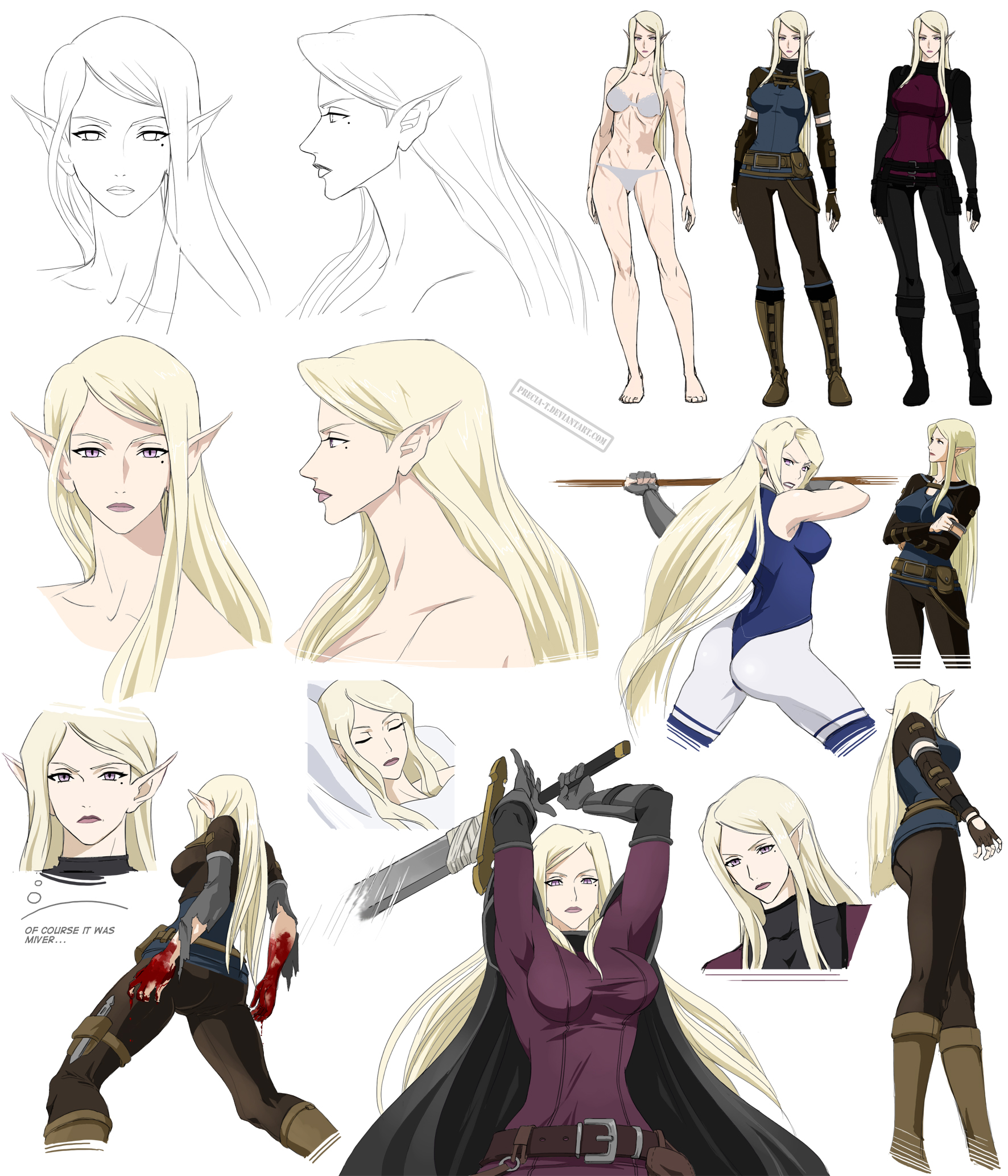 Character Design Deviantart : Targa the main character design nebula by precia t on