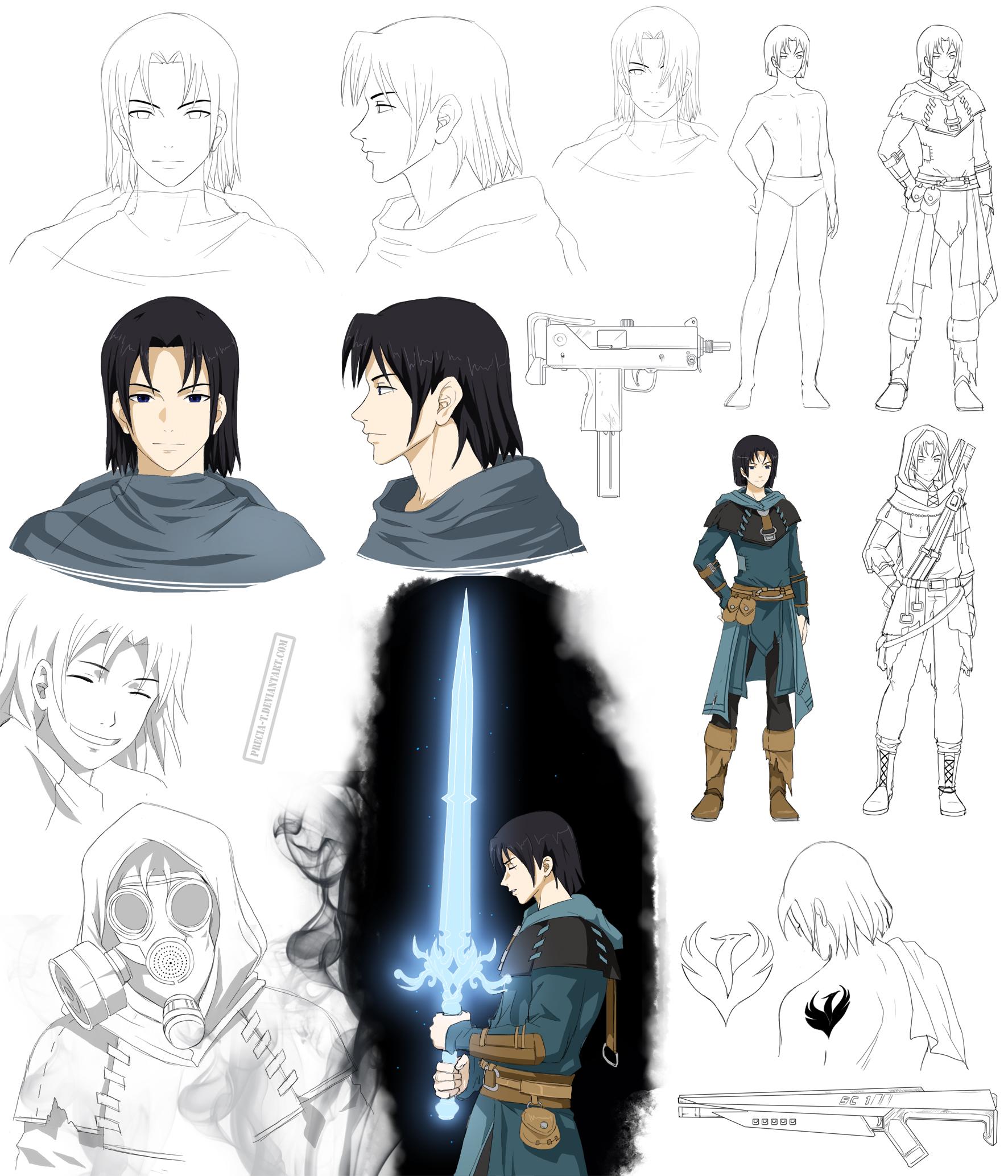 Deviantart Character Design Commission : Futuristic teen guy design max commission by precia t