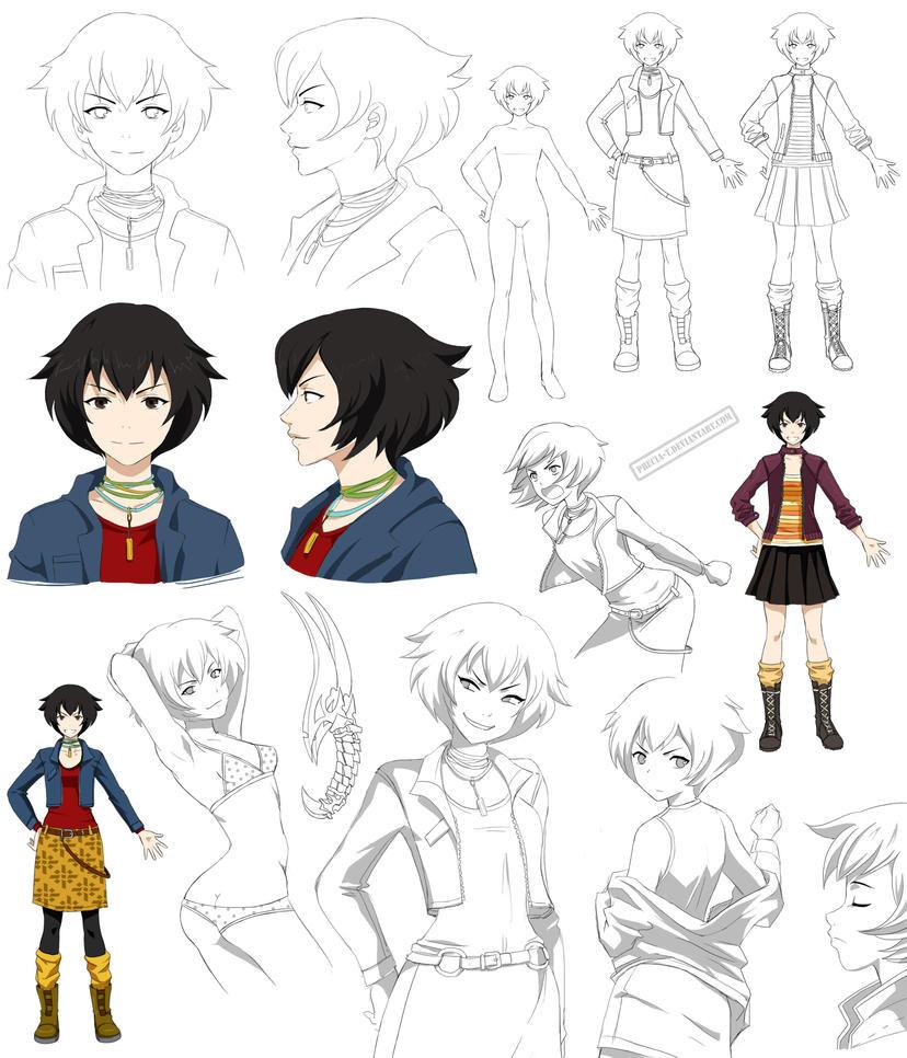 Teen girl - Aki design (Commission) by Precia-T