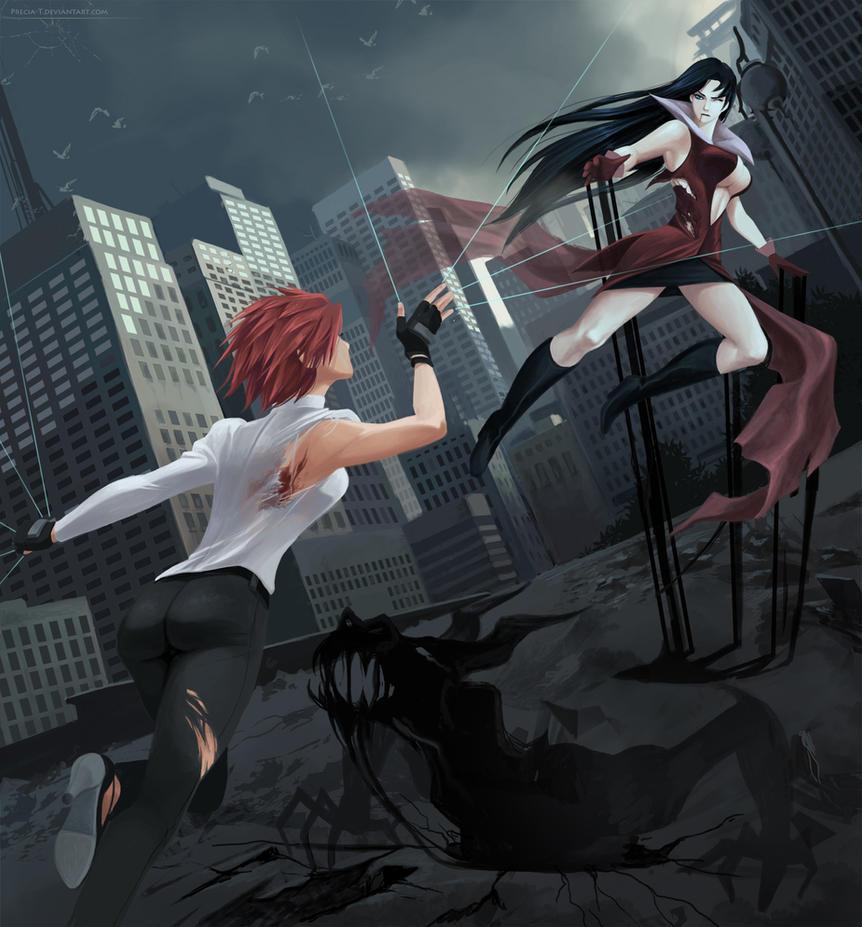 Ark vs Kain (commission) by Precia-T