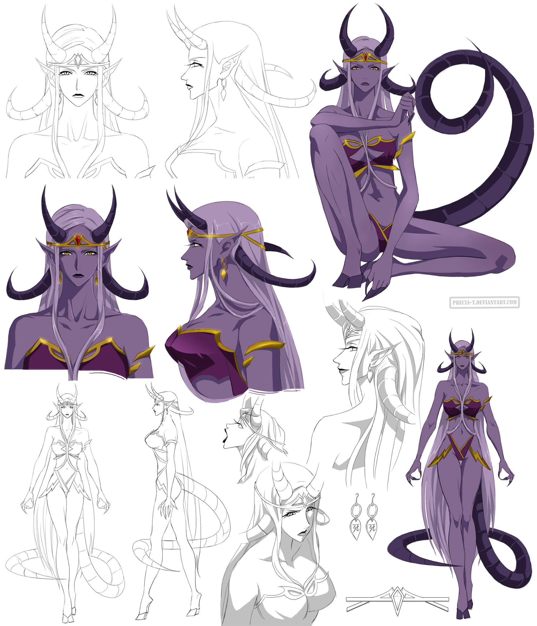 Lilith - demon Woman design (commission) by Precia-T