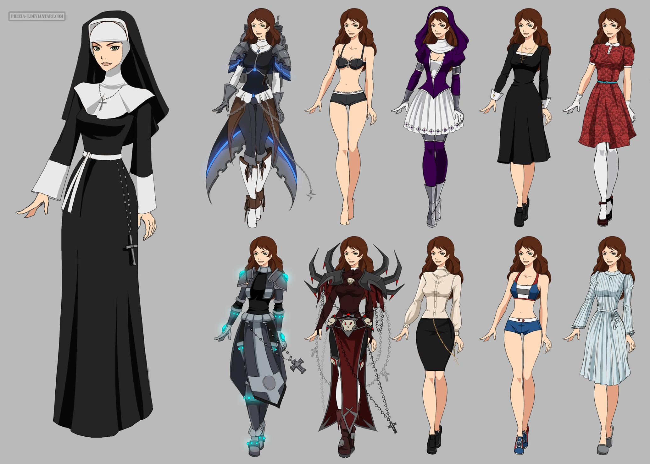Sister Merriam Wardrobe (commission) by Precia-T