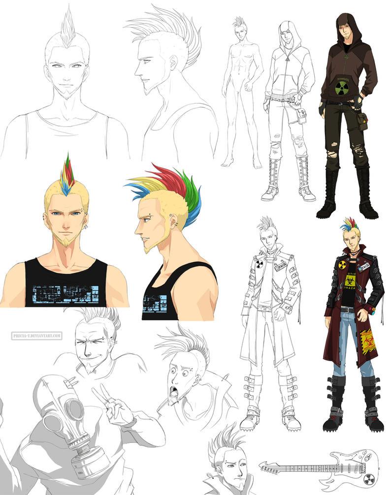Deviantart Character Design Commission : Punk guy design rad commission by precia t on deviantart
