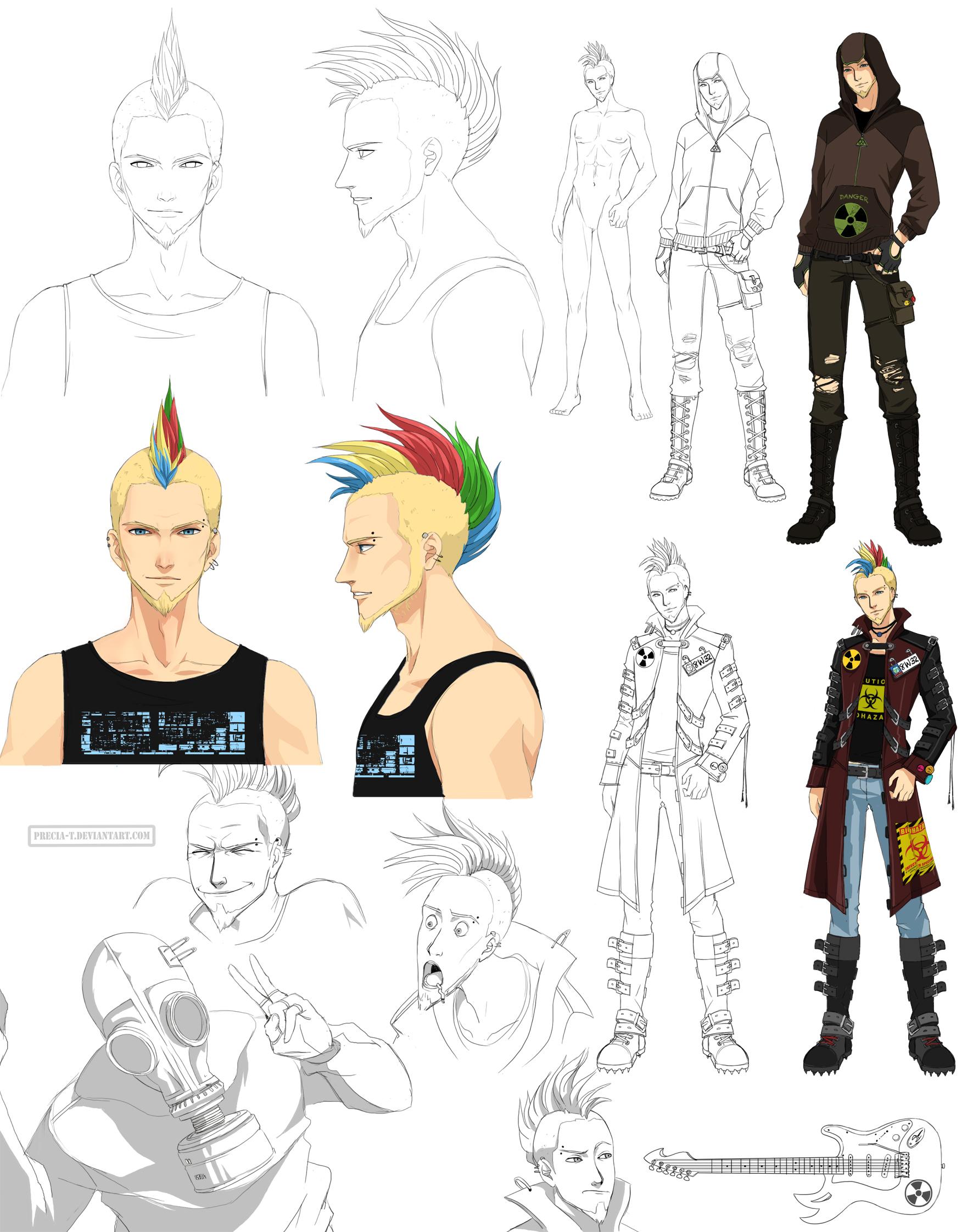 Punk guy design - Rad (Commission) by Precia-T
