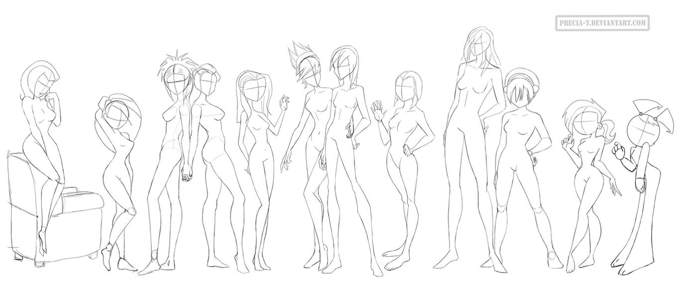 Female anatomy 7 (cartoonish) by Precia-T on DeviantArt