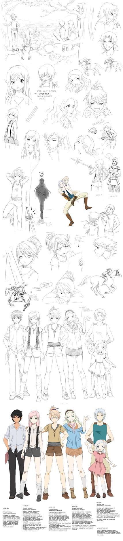 Targa doodles (teens) by Precia-T