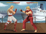 street fighter x Fatal fury (commission)