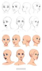 Disney style heads - angles by Precia-T