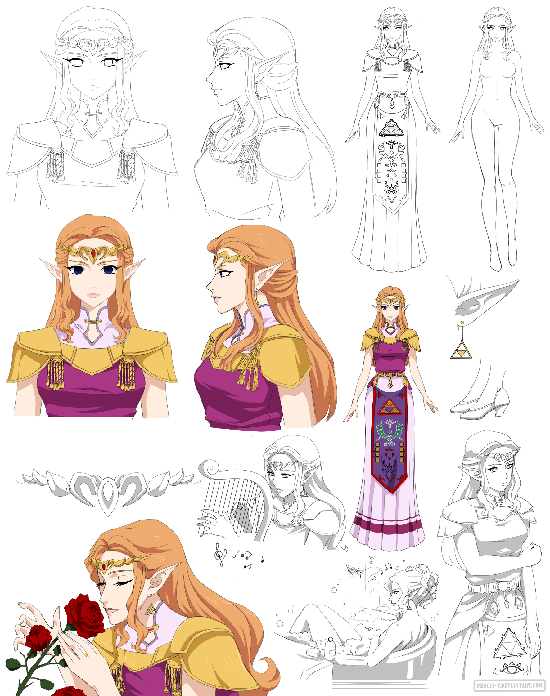 Zelda sheet (commission) by Precia-T