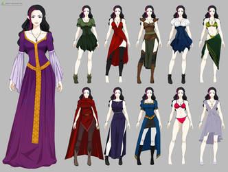 Kerriandra Wardrobe (commission) by Precia-T