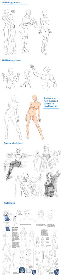 Poses, tutorials, sketches and more on patreon