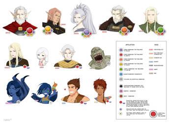 TARGA - characters set1 by Precia-T