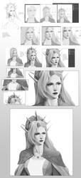 Digital portrait steps by Precia-T