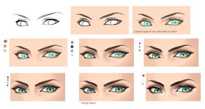 Eyes steps by Precia-T