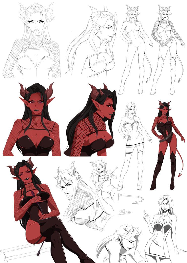 Character Design Tutorial Deviantart : Myserra by precia t on deviantart