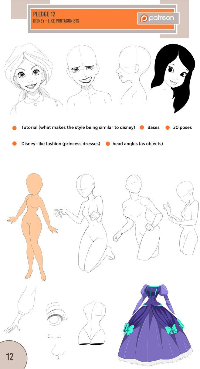 12 Disney-like style (Patreon) by Precia-T