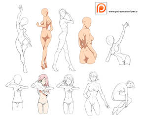Patreon poses by Precia-T