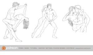 Dance poses by Precia-T