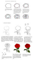 Rose tutorial by Precia-T