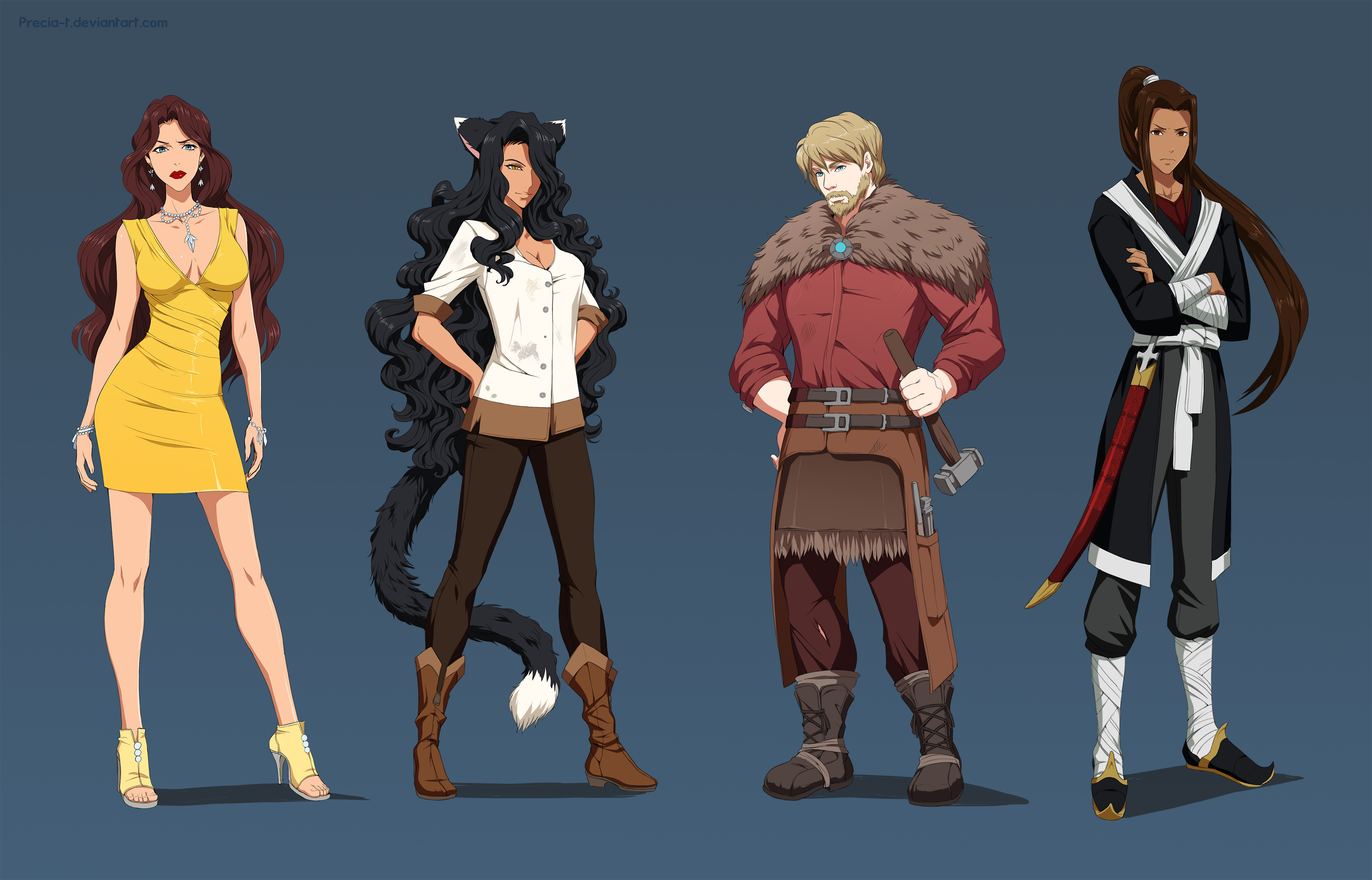 Commission - Character designs by Precia-T