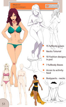 51 pack - female body types