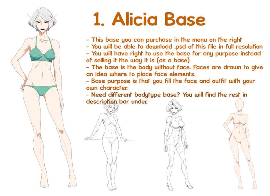 1 Alicia - base by Precia-T