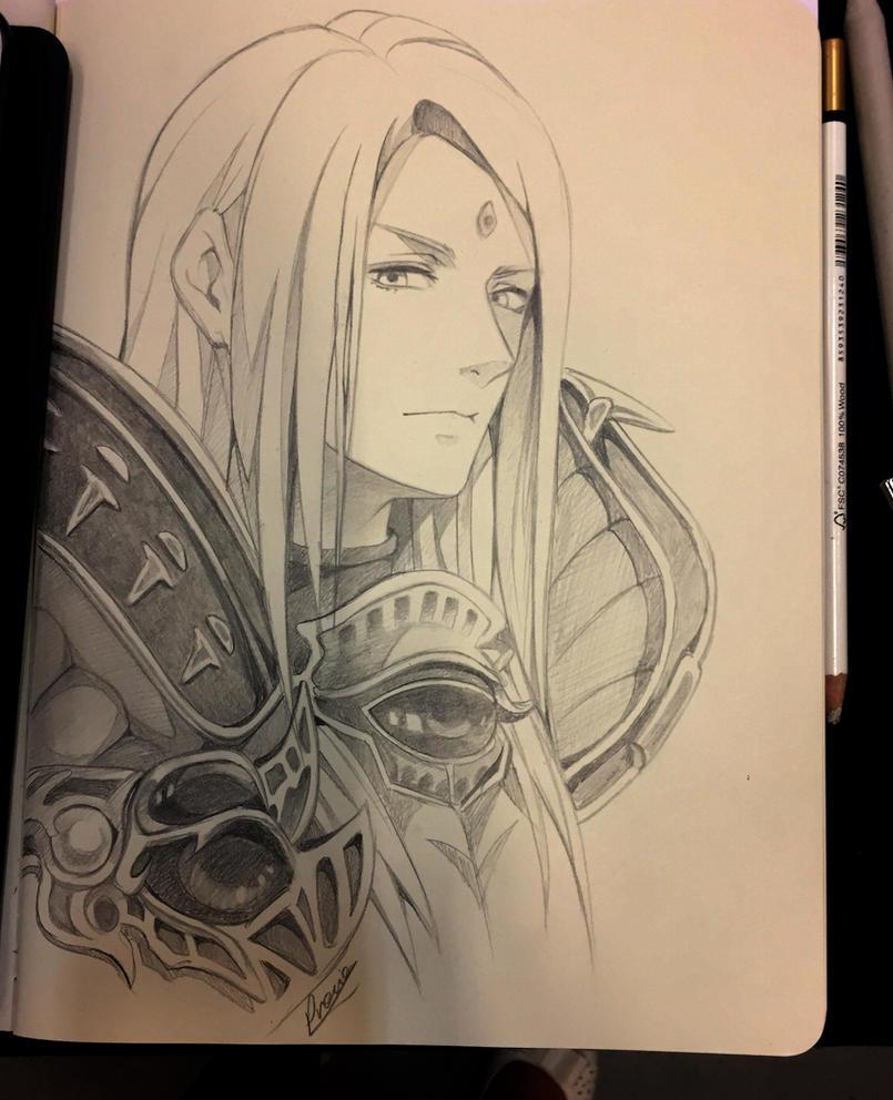 Zenos Final fantasy XIV - fanart request by Precia-T