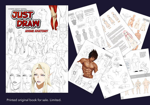 JUST DRAW anatomy book! (reprint)