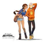 Aang x Katara - Avatar fanart