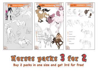 HORSE PACKS - Get 3 for 2!