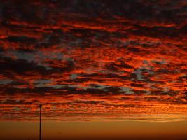 Fire Sky Sunset by IGotNoThumbs