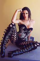 kerri taylor corset and fishnets by modelkerritaylor