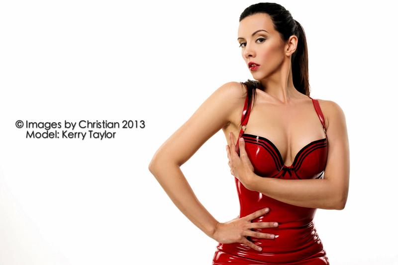 kerri taylor red latex by modelkerritaylor