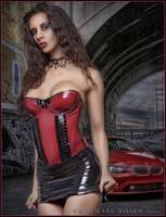 Kerri Taylor Red Corset by modelkerritaylor