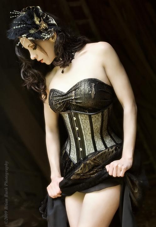 Kerri Tayor Gold Corset by modelkerritaylor