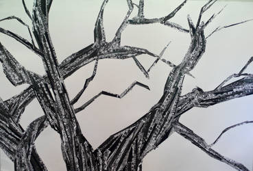 Black and White Patterned Tree