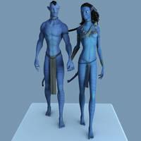 Neytiri and Jake by Fierox