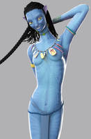 Neytiri - requested pose by Fierox