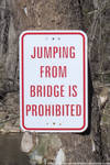 NCR - JUMPING FROM BRIDGE IS PROHIBITED