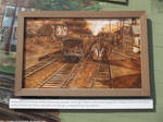 YCH - Sepia train painting