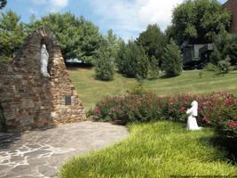 Calvert Hall garden by NickACJones