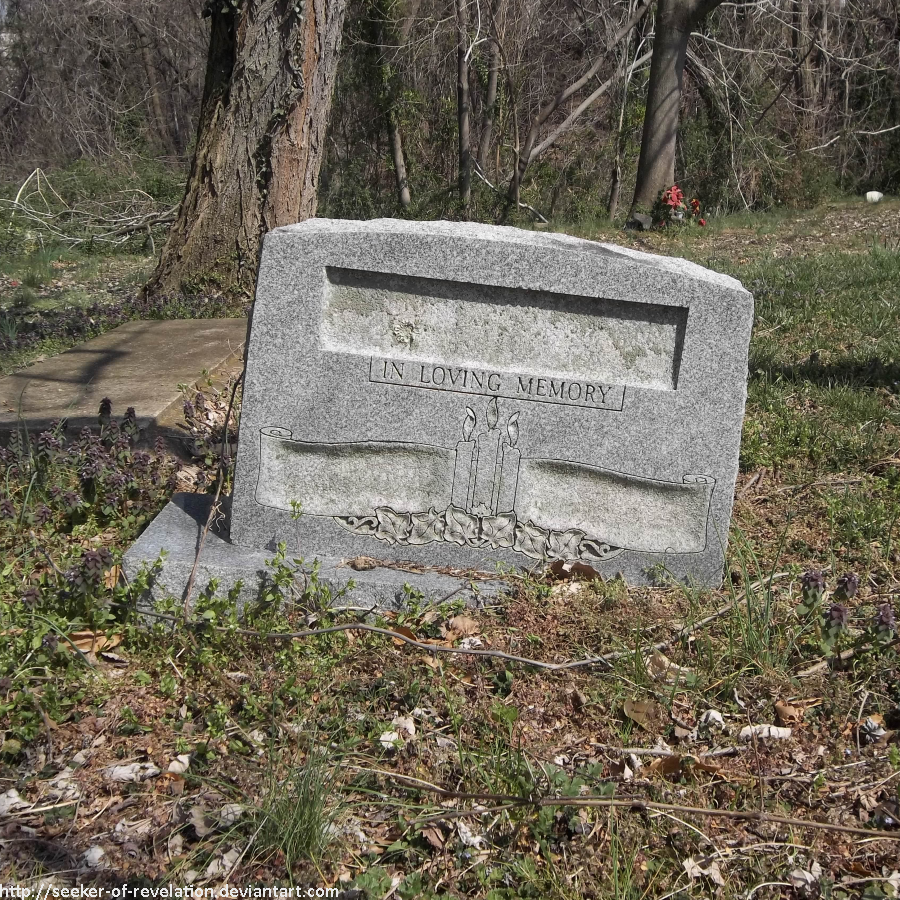 Tombstone for the nameless dead