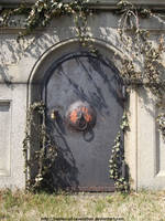 Rusting tomb door by NickACJones