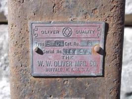 W. W. Oliver nameplate by NickACJones